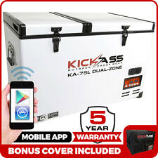KickAss 75L 12V Portable Dual Zone Fridge & Freezer 4WD + iPhone App EvaKool