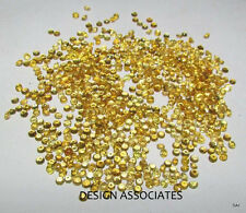 1.5MM 100pcs Round Diamond Cut Natural Yellow Sapphire