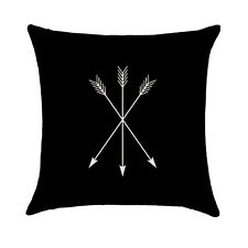Square Decorative Throw Pillow Case Cushion arrows, archery, cabin, nature