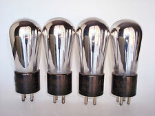 Lot of 4 National Union CX-201-A Vacuum Tubes - Ops Checks Very Good
