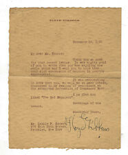 13. Typed Signed Letter By Floyd Gibbons War Correspondent, Radio Personality +