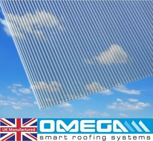 16mm Polycarbonate Roofing Sheets - Clear, Bronze or Opal, Many Sizes Available