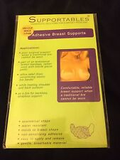 New Pack Of 3 Pairs Supportables Adhesive Breast Support Bra Size DD Cup Beige