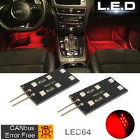 2 cartes LED rouge pour module éclairage sol/pieds Audi A3 A4 A5 A6 A8 Q5 Q7 TT