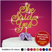 She said YES Engagement Cake Topper Hen Party Bridal Shower Acrylic Cake Toppers