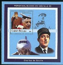 GUINEE BISSAU-2001-CH DE GAULLE-1 bloc feuillet neuf dentelé