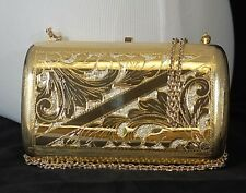 Italian galvanized gold clutch with inlaid Swarovski crystals  FACTORY PRICE!!