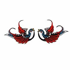 Swallow Sparrow Tattoo Bird Dove Swiftlet Biker Embroidered Sew Iron On Patch