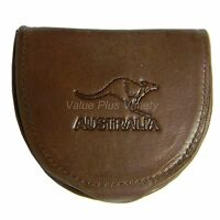 Genuine Soft Leather Wallet Coin Purse Pouch Tray Mens Australia Souvenir