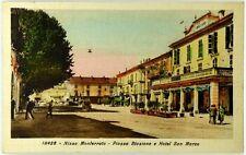 Cartolina Formato Piccolo - Nizza Monferrato - Piazza Stazione E Hotel S. Marco