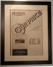 More details for depeche mode*music for masses*op*1987*original*poster*ad*framed*fast world ship