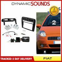 CTKFT15L Double Din Stereo Fascia Fitting Kit Black L.H.D For Fiat Grande Punto