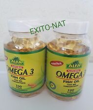 2 OMEGA 3 ALFA 100 SOFTGELS XL concentrated Anti Inflammatory DHA FISH OIL EPA