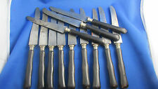 12 anciens grands couteaux lame acier manche bois  epoque 1900