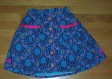 Matilda Jane Paint by Numbers Blue Print Corduroy Skirt Girls Size 10, EC