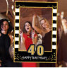 1PC 30 40 50th Paper Photo Booth Props 1St Baby Frame Happy Birthday Party Decor