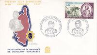 Enveloppe 1er jour FDC n°689 - 1969 - Napoléon Bonaparte Naissance