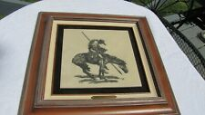 Trails End Marble Etching by PB Wolfe Framed Limited 43/250 in original box 1993