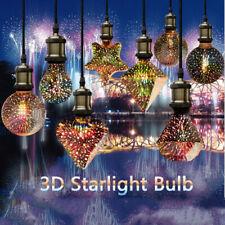 CHRISTMAS E27 LED Light Bulb 3D Firework Edison Party Lamp A60 ST64 G80 G95 Star