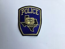 Farmers Branch Texas Police Patch-