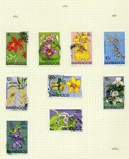 Flowers Barbadian Stamps (1966-Now)