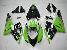 Fit for ZX10R 2004 2005 Black Green ABS Plastic Injection Bodywork Fairing Kit