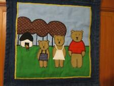 GOLDILOCKS & THE 3 BEARS APPLIQUE SCROLL WALL HANGING HAND MADE STORYBOOK