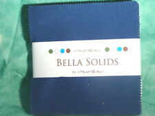 """Moda Charm Pack 5"""" Fabric Squares  Bella Blue Solids"""