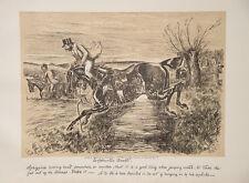 FINCH MASON FOX-HUNTING RIDING England Caricature Hunter Hunting Riding Horse Stirrup