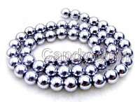 "SALE Big 10mm White Super Luster Round High Quality Hematite bead strand 15""-535"