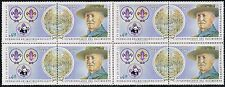 CHILE 1982 STAMP # 1029/30 MNH BLOCK OF FOUR BOY SCOUTS BADEN POWELL