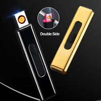 Windproof USB Electric Flameless Rechargeable Smoking Cigarette Lighter No Gas