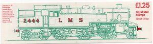 1983 FK6Aa £1.25 RAILWAY BOOKLET  Corrected rates cat £110. LEFT MARGIN EX PERFS