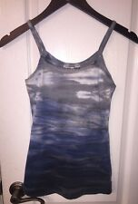 Hard Tail Forever Yoga Blue Tie Dye Tank Fitness Sports Bra Shirt Top Women's XS