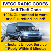IVECO RADIO CODE Daily CD Instant & Expert Service