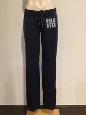 Abercrombie & Fitch Hollister Women's Logo Snap Button Track Pants S Navy NWT
