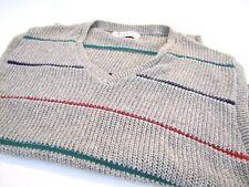 CHRISTIAN DIOR Actif Vintage 1990s 1980s Cotton Knit Striped Sweater Vest Size L