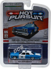 1974 DODGE MONACO CHICAGO POLICE CAR 1/64 DIECAST MODEL BY GREENLIGHT 42770 C