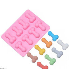 Novelty Hens Penis Willy Dick Silicone Ice Tray Chocolate Cake Jelly Mould FCB