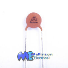 Pack of 10 47nF 5mm 50V general purpose disc capacitors