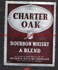 1940s PENNSYLVANIA Philadelphia Continental Charter Oak Blended Whiskey Label
