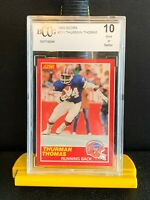 1989 Score Thurman Thomas Rookie. Bccg 10 Mint! 4 Veteran's Charity