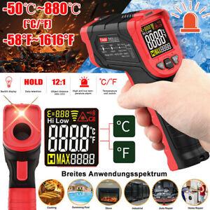 LCD Laser Pyrometer Infrarot IR Thermometer -50°C bis 880°C Temperatur Messgerät