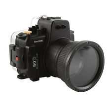 60m Waterproof Underwater Diving Housing Case For Canon EOS 80D & 18-135mm Lens