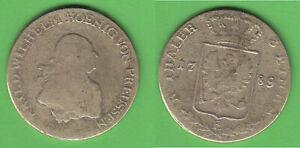 zeitgenössisch nachgeahmt? 1/3 Taler 1789 E Königsberg Preußen F.W.II. Jg. 22