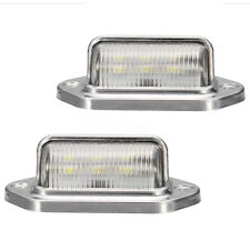 2x Chrome 6 LED License Number Plate Light RV Camper Lorry Caravan Truck Trailer
