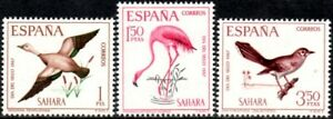 (Ref-15344) Spanish Sahara 1968 Stamp Day   Birds    SG.259/261 Mint (MNH)