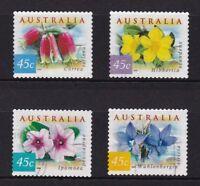 AUSTRALIA 1999 COASTAL FLOWERS (GUM BASE) COMP. SET OF 4 STAMPS IN FINE USED