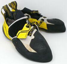 La Sportiva Men's Solution Rock Climbing Shoe - White/Yellow - 10 Us / 43 Eu