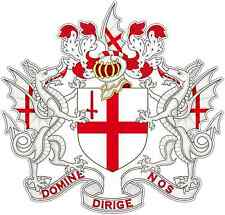 "City of London Coat of Arms England UK Car Bumper Vinyl Sticker Decal 4.5""X4.5"""